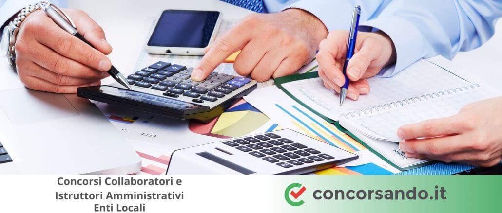 Concorsi Collaboratori e Istruttori Amministrativi Enti Locali
