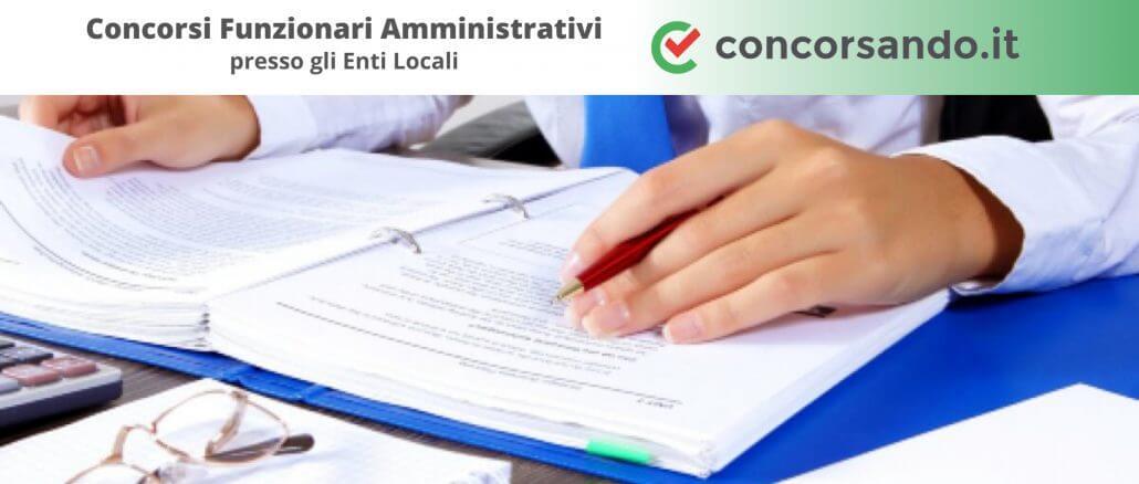 Concorsi Funzionari Amministrativi Enti Locali