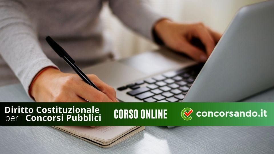 Diritto Costituzionale per i Concorsi Pubblici - Corso Online