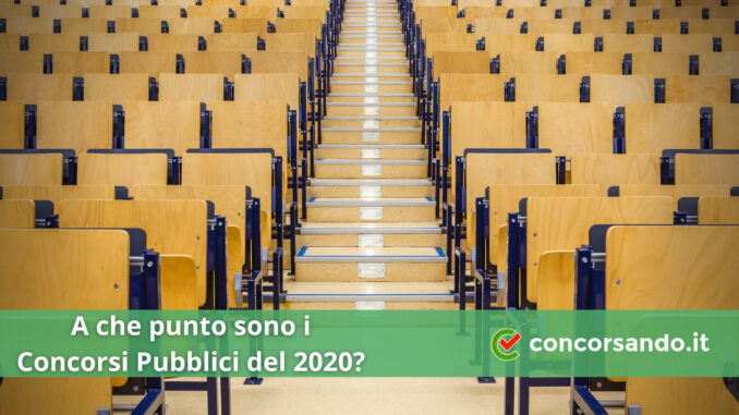 A che punto sono i Concorsi Pubblici 2020_