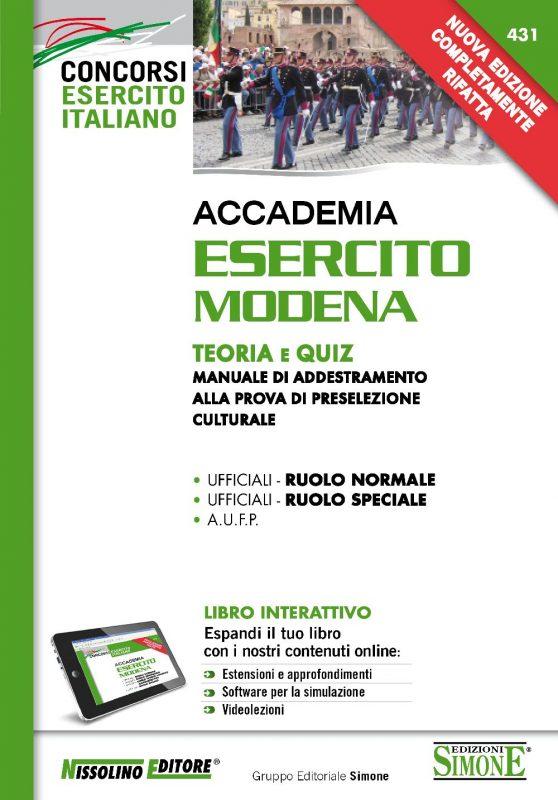 Accademia Esercito Modena – Teoria e Quiz