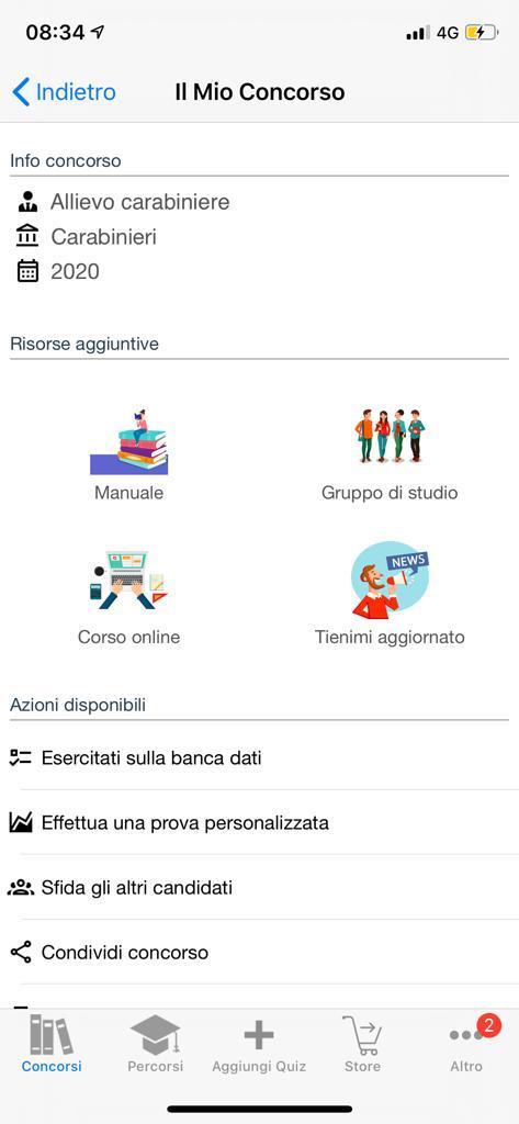 Banca dati Concorso Allievi Carabinieri 2020