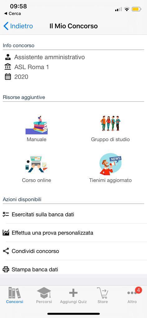 Banca dati Concorso Assistenti amministrativi ASL Roma 1