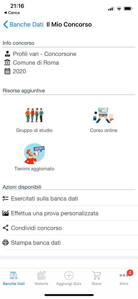 Banca dati Concorso Comune di Roma