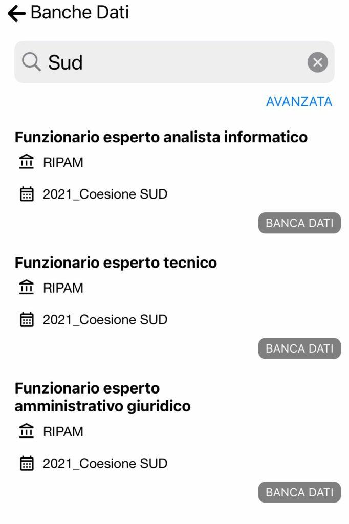 Banche Dati Concorso Coesione SUD