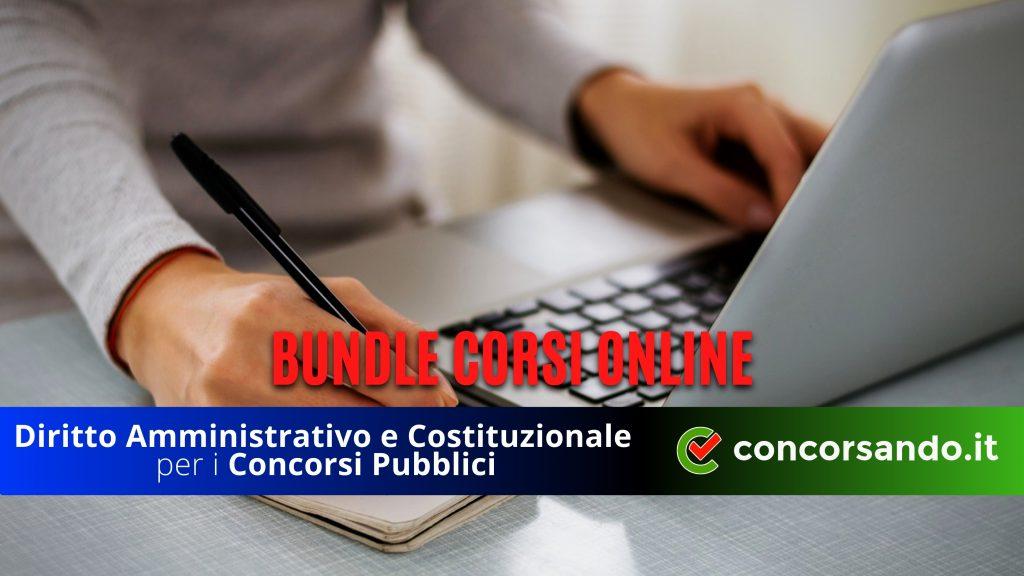 Bundle Corsi Online Diritto Amministrativo e Costituzionale
