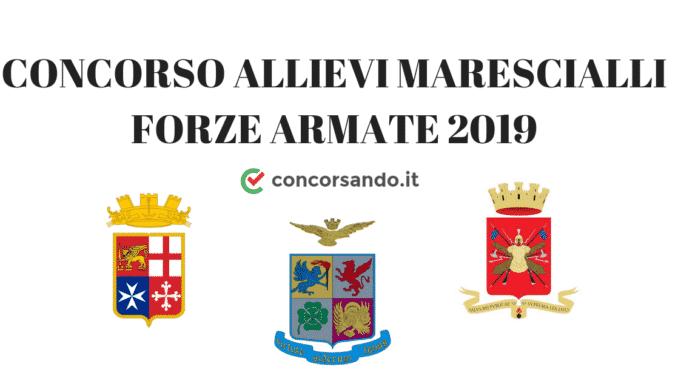 CONCORSO ALLIEVI MARESCIALLI FORZE ARMATE 2019
