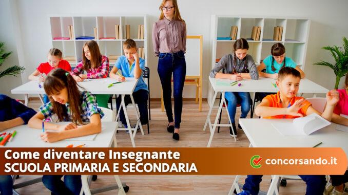 Come diventare Insegnante Scuola Primaria e Secondaria
