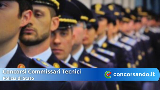 Concorsi Commissari Tecnici Polizia di Stato