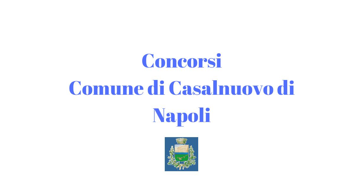 Concorsi Comune di Casalnuovo di Napoli
