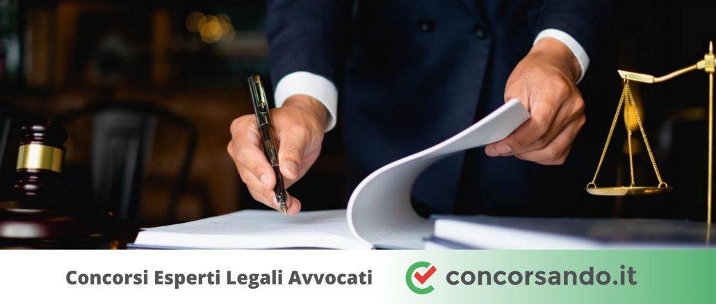 Concorsi Esperti Legali Avvocati