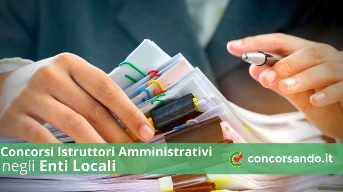 Concorso Istruttori Amministrativi presso gli Enti Locali