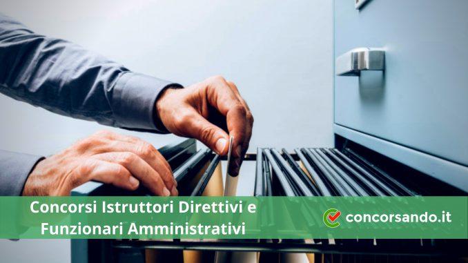 Concorso Istruttori Direttivi Amministrativi presso Enti Locali