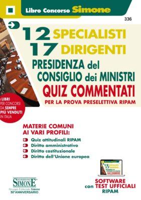 Concorsi Presidenza del Consiglio – Manuale per la prova preselettiva