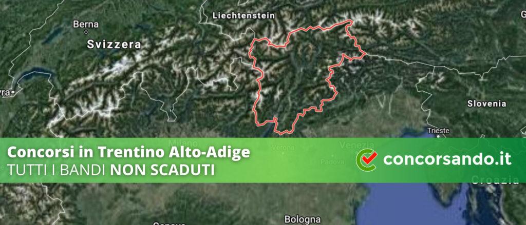 Concorsi in Trentino Alto-Adige