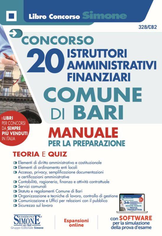 Concorso 20 Istruttori Amministrativi Finanziari Comune di Bari – Manuale per la preparazione