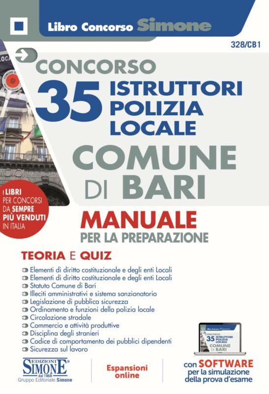 Concorso 35 Istruttori Polizia Locale Comune di Bari – Manuale per la preparazione