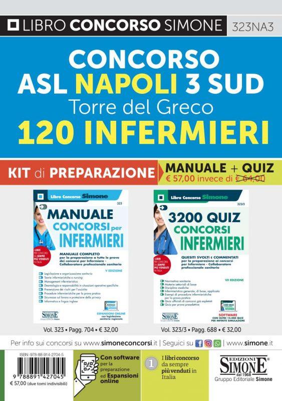Concorso ASL Napoli 3 SUD Torre del Greco – 120 Infermieri – KIT di preparazione (323 + 323/3)