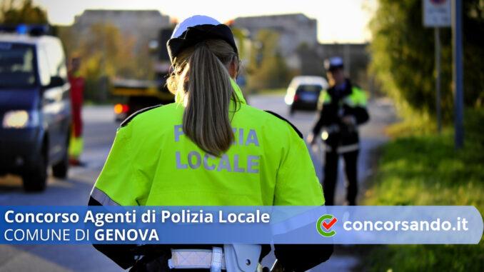 Concorso Agenti di Polizia Locale Comune di Genova
