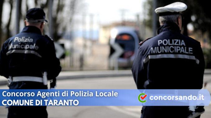 Concorso Agenti di Polizia Locale Comune di Taranto