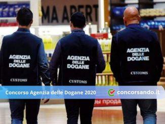 Concorso Agenzia delle Dogane 2020