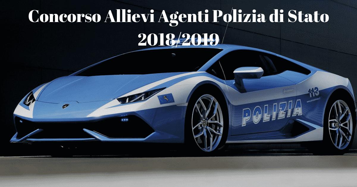 Concorso Allievi Agenti Polizia di Stato 2018