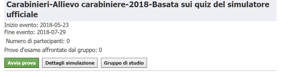 Concorso Allievi Carabinieri 2018 - Simulazione