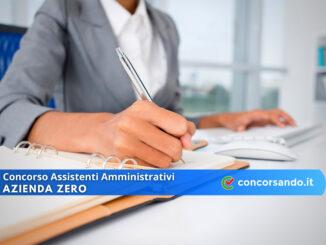 Concorso Assistenti Amministrativi Azienda Zero