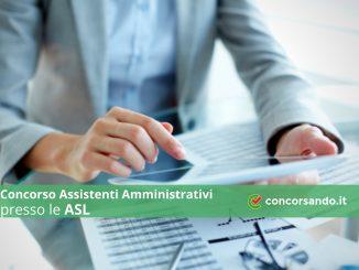 Concorso Assistenti Amministrativi presso le ASL