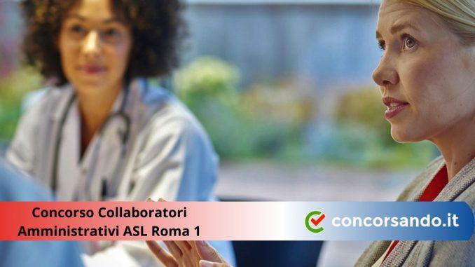 Concorso Collaboratori Amministrativi ASL Roma 1