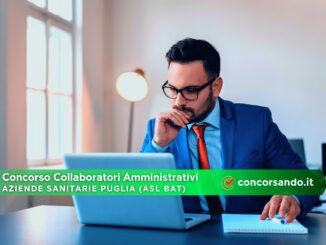 Concorso Collaboratori Amministrativi Aziende Sanitarie Puglia