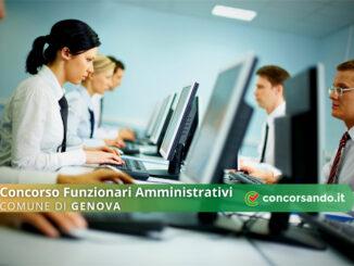 Concorso Funzionari Amministrativi Comune di Genova