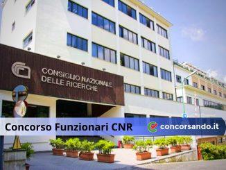 Concorso Funzionari CNR