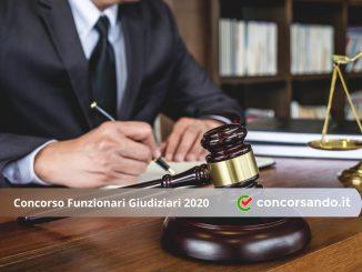 Concorso Funzionari Giudiziari 2020
