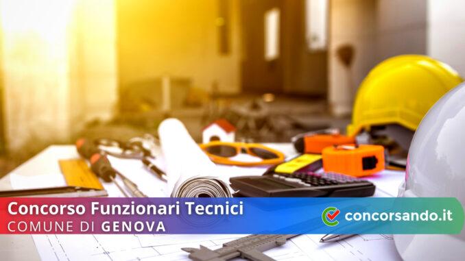 Concorso Funzionari Tecnici Comune di Genova