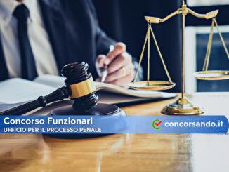 Concorso Funzionari Ufficio per il Processo Penale