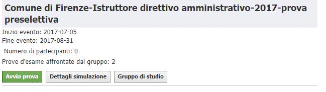 Concorso Istruttori Direttivi Amministrativi Comune di Firenze - Simulazioni