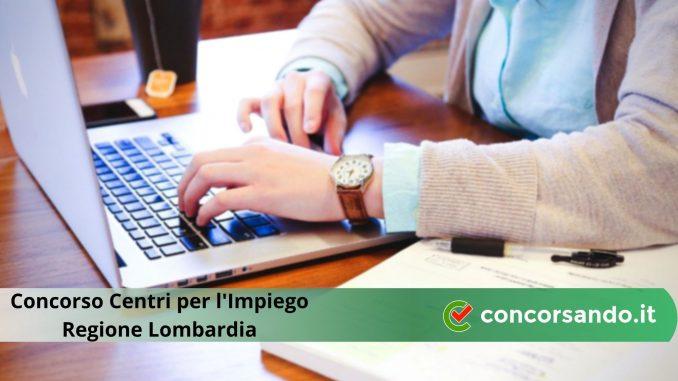 Concorso Regione Lombardia Centri per l'Impiego
