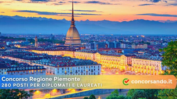 Concorso Regione Piemonte