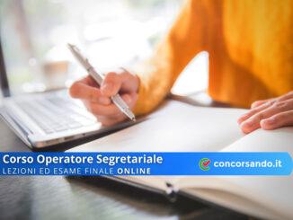 Corso Operatore Segretariale