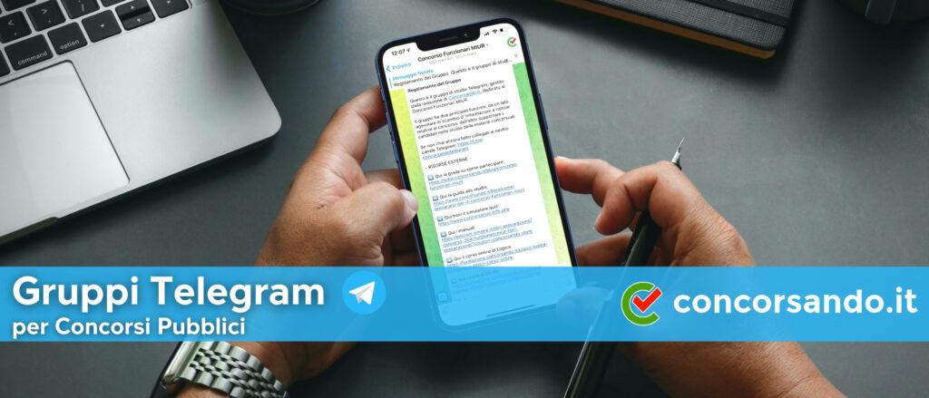 Gruppi Telegram per Concorsi Pubblici