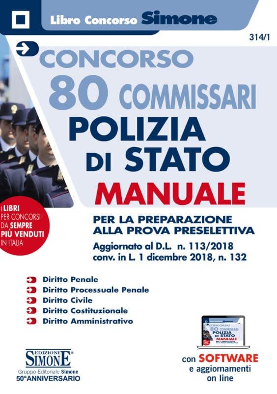 Concorso 80 Commissari Polizia di Stato – Manuale