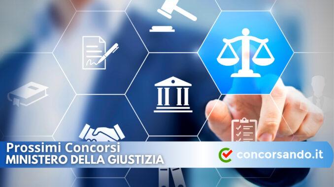Prossimi Concorsi Ministero della Giustizia