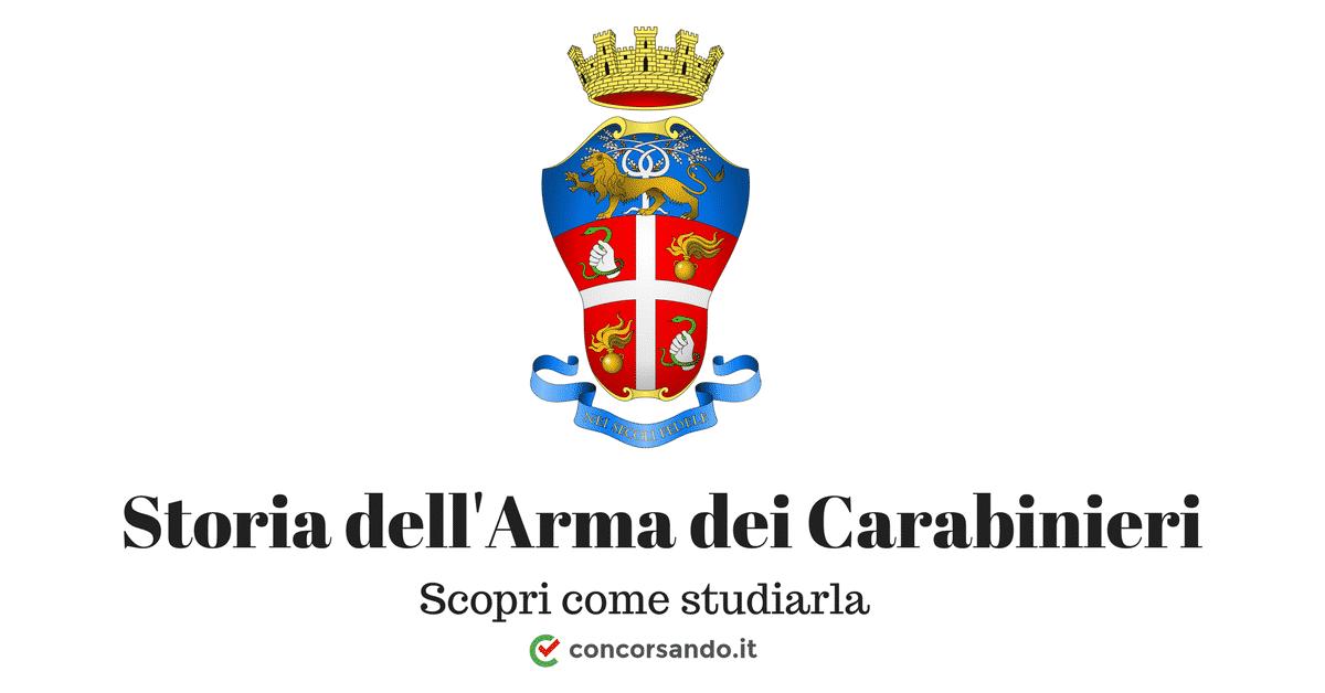 Quiz Storia dell'Arma dei Carabinieri - Dispensa PDF