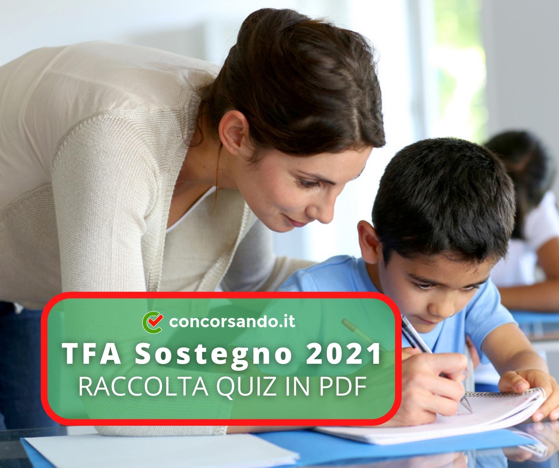 Raccolta quiz TFA Sostegno 2021