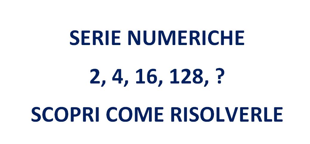 Serie numeriche