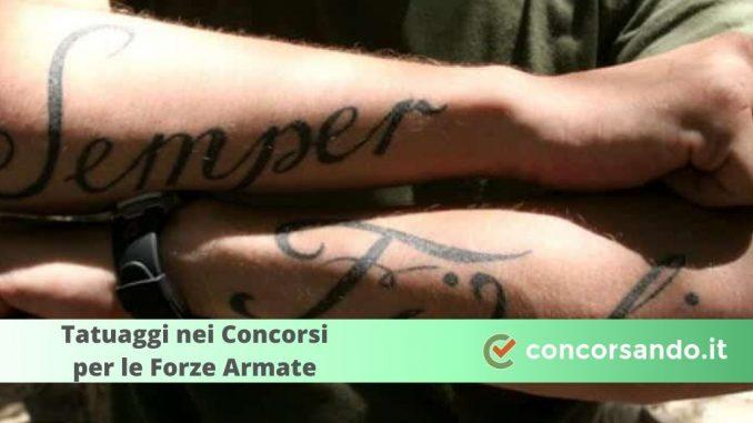 Tatuaggi Concorsi Forze Armate