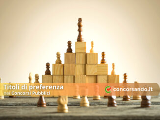 Titoli di Preferenza Concorsi Pubblici
