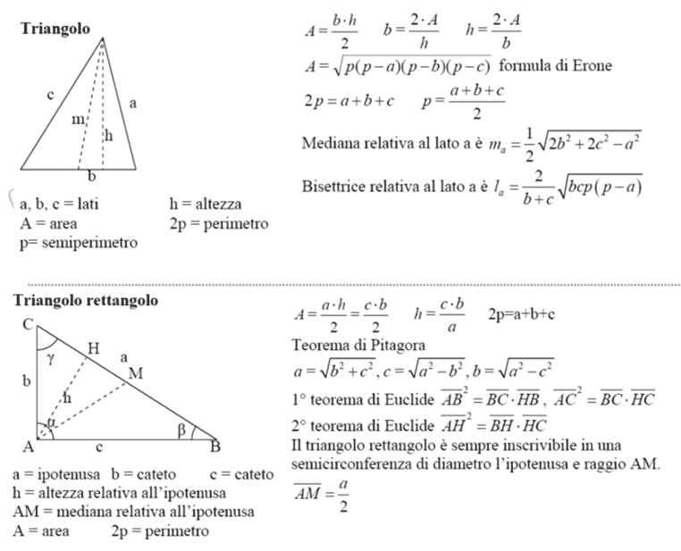 Triangoli formulario
