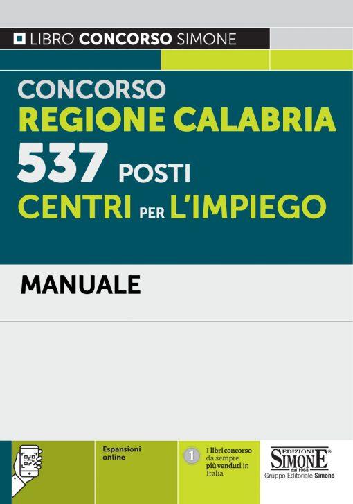 Concorso Regione Calabria – 537 posti Centri per l'impiego – Manuale